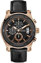 GUESS Men's Stainless Steel Casual Leather Watch