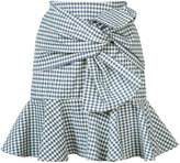 Veronica Beard Picnic Bow mini skirt - women - Cotton/Spandex/Elastane - 2