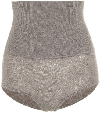 KHAITE Belinda stretch cashmere shorts
