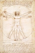 Leonardo Eurographics 2400-5098 Vitruvius Man by Da Vinci Poster