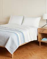Famous Designer Grey Sea Palms Stripe Quilt