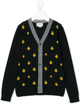 Gucci Kids knitted bee cardigan