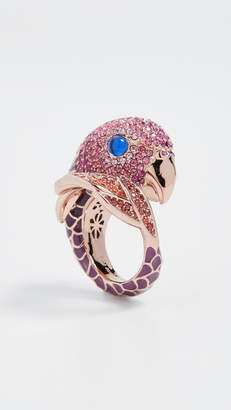 Kate Spade New York Tropical Paradise Statement Parrot Ring