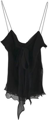 Alexander McQueen Black Silk Tops