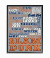 Stupell Industries Basketball Denim Feel Framed Giclee Texturized Art