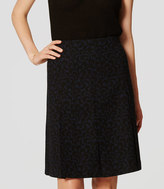 LOFT Ivy Jacquard Pleated Skirt