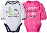 Gerber Seattle Seahawks Pink Long-Sleeve Bodysuit Set