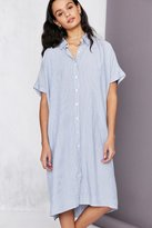 Silence & Noise Silence + Noise Button-Down Cocoon Shirt Midi Dress