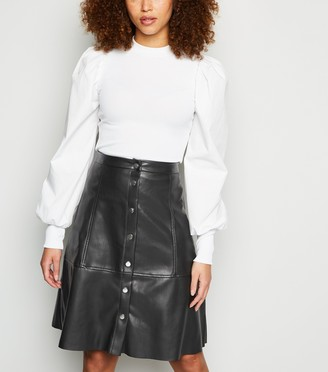 New Look JDY Leather-Look High Waist Skirt