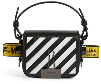 Off-White Mini Leather Baby Flap Cross-Body Bag