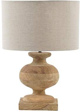 Columbia Artisanti Turned Wood Urn Lamp