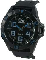 Crosshatch Men's Quartz Watch with Black Dial Analogue Display and Black Silicone Strap CRS17/B