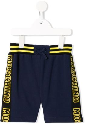 MOSCHINO BAMBINO Logo Stripe Shorts