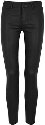 Articles of Society Sarah Black Coated Skinny Jeans