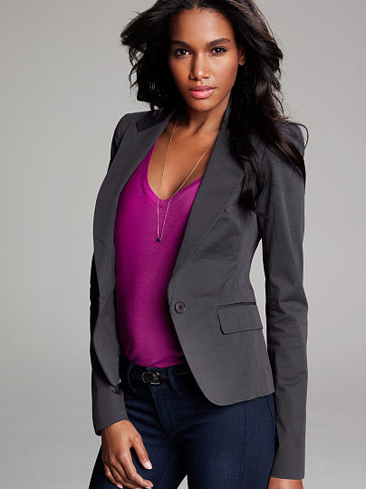 Victoria's Secret Shrunken One-button Jacket
