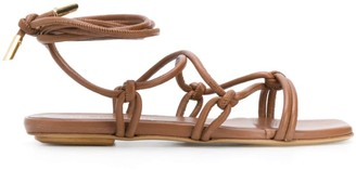Gia Couture Bella lace-up sandals