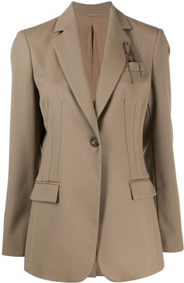Brunello Cucinelli Fitted Waist Long-Length Blazer