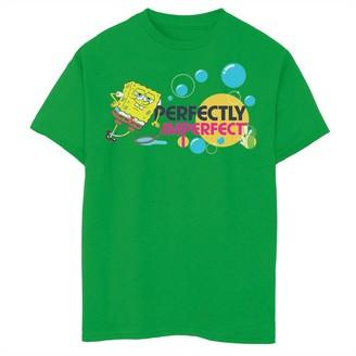 SpongeBob Squarepants Licensed Character Boys 8-20 Perfectly Imperfect Short Sleeve Tee