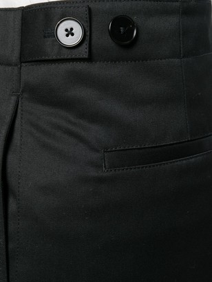 Jil Sander Wide leg zipped trousers