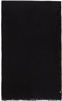 Low Classic Black Wool Muffler Scarf