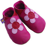 Starchild shoes Girls Soft Leather Baby Shoes Poppy Flower In Fuchsia