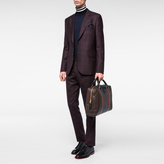 Paul Smith Men's Brown And Navy Lamb Leather Holdall