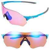 Oakley Women's Evzero Range Prizm(TM) 73Mm Shield Sunglasses - Matte Sky Blue/ Prizm Trail