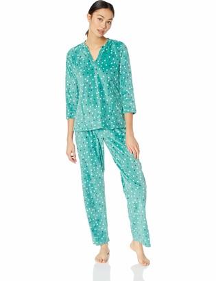 Maidenform Women's Fleece Top and Pant Set