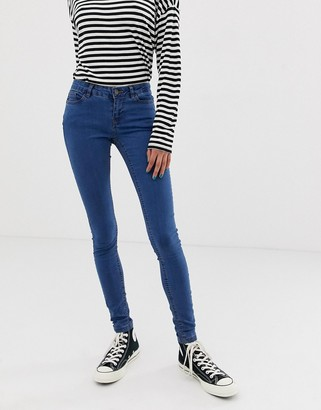 Noisy May low rise skinny jegging in blue