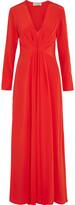 By Malene Birger Nurah pleated washed-silk maxi dress