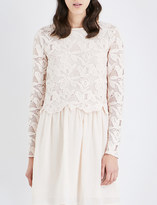 See by Chloe Lace and cotton dress