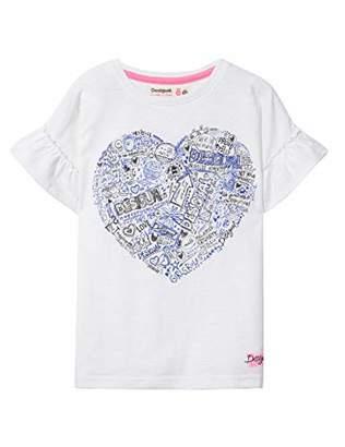 Desigual Girl Knit T-Shirt Short Sleeve (ts_Sacramento),104 (Size: )