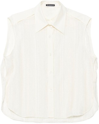 Ann Demeulemeester Lace Sleeveless Shirt