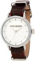 Steve Madden Women's Double-Loop Leather Strap Watch