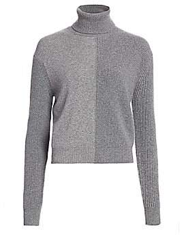 Theory Women's Cashmere Colorblock Turtleneck Sweater