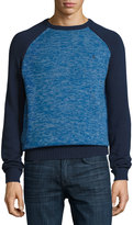Original Penguin Long-Sleeve Crewneck Jersey Sweater, Dress Blues