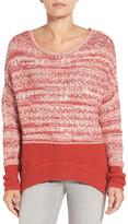 Caslon R) Colorblock Marl Knit Sweater