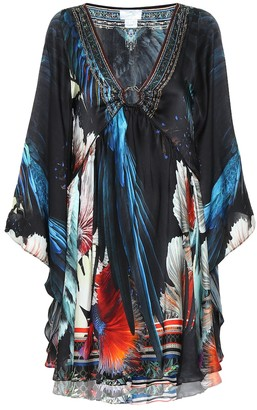 Camilla Floral silk minidress