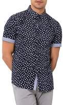 7 Diamonds Soldier of Love Trim Fit Short Sleeve Sport Shirt