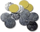 Z Palette 26-mm Round Metal Magnetic Metal Stickers for Non-Magnetized Makeup Pans, 30-Pcs