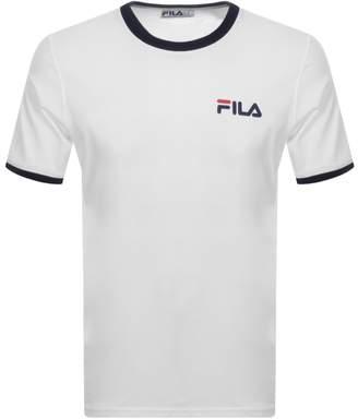 Fila Vintage Rosco Crew Neck Ringer T Shirt White