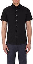 Theory Men's Short-Sleeve Sylvain Shirt-BLACK