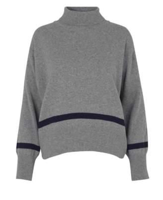 Libertine-Libertine Grey Husky Knit Jumper - wool | grey | Navy | S/UK8 - Grey/Grey