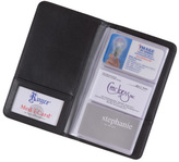 Royce Leather 3-Up Business Card File 414-5