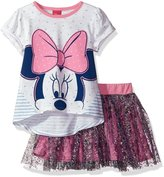 Disney Little Girls' Minnie Mouse 2-Piece Skirt Set
