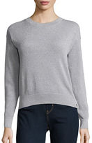 MICHAEL Michael Kors Button Accented Bubble Knit Stitched Sweater
