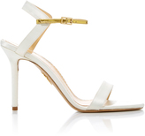 Charlotte Olympia Quintessential Leather-Trimmed Satin Sandals