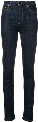 Alberta Ferretti High-Rise Skinny Jeans