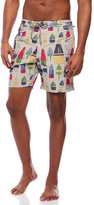 Tailor Vintage Buoy Print Swim Trunks