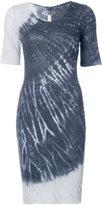 Raquel Allegra tie-dye detail dress